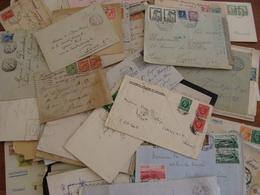 LOT 102 TIMBRES VOIRE CACHET  SUR LETTRES ETRANGERES FIN XIX A 1948 VOIR PHOTOS - Stamps