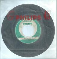 "45 Tours SP - JOHNNY HALLYDAY   - PHILIPS 372976  "" MAYBELLENE  "" + "" BLUEBERRY HILL "" ( JUKE-BOX ) - Vinyl Records"
