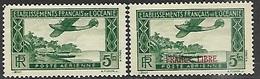 Polynesia  1934-41   Sc#C1 & C2   Airmails  MH   2016 Scott Value $8.50 - Oceania (1892-1958)