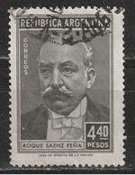 Argentina 1957 - Roque Saenz Pena - Capi Di Stato   Persone Famose   Politici   Uomini - Argentina