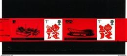 GREAT BRITAIN - 2012  OLYMPICS LOGO  2 X 1st CLASS  EX SMILERS   MINT NH - 1952-.... (Elisabetta II)