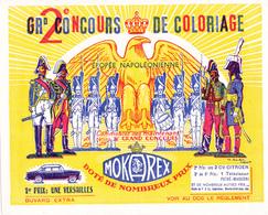 BUVARD CAFE MOKAREX - Concours De Coloriage - Napoléon - Soldats Empire - 1er Prix Une Simca Versailles - Coffee & Tea