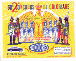 BUVARD CAFE MOKAREX - Concours De Coloriage - Napoléon - Soldats Empire - 1er Prix Une Simca Versailles - Café & Thé