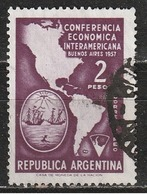 Argentina 1957 - Map Of Americas And Arms Of Buenos Aires - Mappe   Stemmi Araldici - Argentina