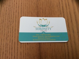 Carte De Visite * «SERENITY DAY SPA - Bequia - St Vincent And The Grenadines (Antilles)» - Visiting Cards