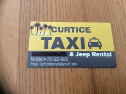 Carte De Visite «CURTICE TAXI» Bequia - St Vincent And The Grenadines (Antilles) - Visiting Cards