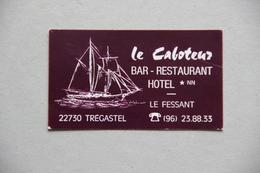 Carte Le Caboteur, Bar-restaurant Hôtel, Le Fessant, Trégastel (Côtes D'Armor) - Visiting Cards