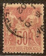EXTRA SAGE N°104 50c Rose N/B Oblitéré CàD Cote 40 Euro PAS D'AMINCI - 1898-1900 Sage (Tipo III)