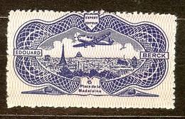 JOLI POSTE AERIENNE N°15 EDOUARD BERCK NEUF Avec GOMME** PAS D'AMINCI - 1927-1959 Neufs