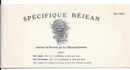 Buvard Ancien Produit Pharmaceutique - SPECIFIQUE BEJEAN - Lithographie Caducée A.B. Contre GOUTTE Et RHUMATISMES - Chemist's