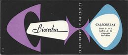 Buvard Ancien Produit Pharmaceutique - LABORATOIRE BIOSEDRA Paris  - Violet Et Bleu -CALSCORBAT Illustré Par C.D. - Chemist's