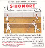 BUVARD TENNIS - Biscottes Sablées Saint Honoré (Vauréal (95) Et Donville (50)) Vente Exclusive En Boulangerie - Sport