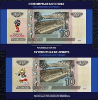 Russia, 2018, Football World Cup FIFA 2018, ZABIVAKA & Emblem, Set Of 2 Notes - Russie