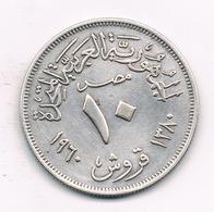 10 PIASTRES   1960 EGYPTE /2859G/ - Egipto