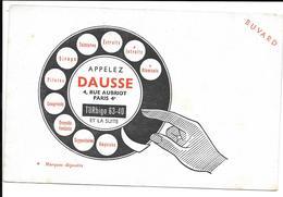 Buvard Ancien Produit Pharmaceutiques - LABORATOIRES DAUSSE Paris - CADRAN TELEPHONIQUE -Atomisats, Intraits, Pilules, - Produits Pharmaceutiques