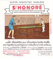 BUVARD TENNIS De TABLE - Biscottes Sablées Saint Honoré (Vauréal (95) Et Donville (50)) Vente Exclusive En Boulangerie - Sport