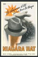 Carte Pub - Niagara Hat Le Chapeau D'été Pour Tous Les Temps Ni Feutre Ni Paille - Voir 2 Scans - Pubblicitari