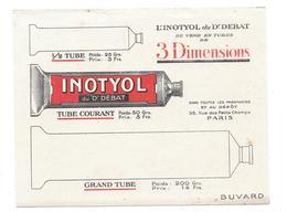 Buvard Ancien Produits Pharmaceutiques - INOTYOL Du Dr DEBAT Paris -  TUBES 3 DIMENSIONS - Produits Pharmaceutiques