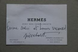 Carte Hermès (Suisse, Genève) - Visiting Cards