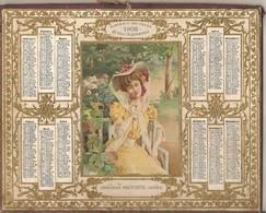 CALENDRIER DES POSTES ANNEE 1908 DOUBLE COUVERTURE DEPARTEMENT CALVADOS BON ETAT - Calendars