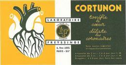 Buvard Ancien Illustré -   Produits Pharmaceutiques - LABORATOIRE FREYSSINGE Paris CORTUNON  Coronaires - Droguerías