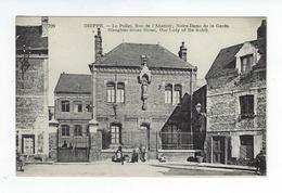 CPA Animée Dieppe Le Pollet Rue De L'Abattoir Notre Dame De La Garde - Dieppe