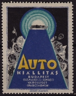 Oldsmobile Auto  Car AUTOMOBILE - Exhibition 1925 Hungary Budapest - LABEL / CINDERELLA / VIGNETTE - MNH - Voitures