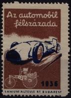 Oldsmobile Auto Racing Car AUTOMOBILE Oldtimer - 1936 Hungary Budapest - LABEL CINDERELLA VIGNETTE - MNH - Benz Mercedes - Automobile
