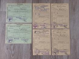 Bescheinigungen 6 Quittungskarten 1940-1943 WW2 Flammersfeld Oberlahr Altenkirchen - Documents