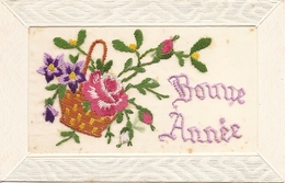 Thèmes Cartes Brodées  Bonne Année    Réf 4204 - Brodées