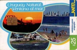 TARJETA TELEFONICA DE URUGUAY. 268a (URUGUAY NATURAL, VENTANA AL MAR) (235) - Uruguay