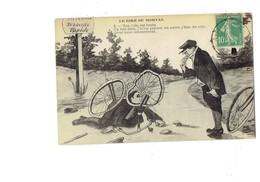 Cpa - Le Rire Du Morvan - Chute Accident De Vélo Bicyclette Pancarte Attention Descente Rapide - Humour