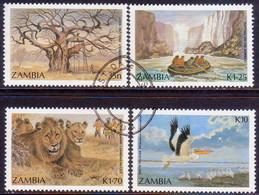 ZAMBIA 1987 SG #503-06 Compl.set Used Tourism - Zambia (1965-...)