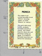 CARTOLINA NV IRLANDA - NOMI - Monica - IEL - 10 X 15 - Nomi
