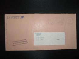 LETTRE LA POSTE OBL.MEC.2-2 1989 975 ST PIERRE + Le Receveur Des Postes 97500 SAINT PIERRE - Lettres & Documents