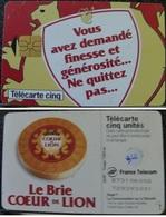 Gn366 TELECARTE BRIE CŒUR De LION GEM1A TELECARTE 5 U 1997/03 TIR 7M COTE 55€ - France
