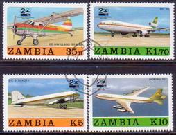 ZAMBIA 1987 SG #524-27 Compl.set Used Zambia Airways - Zambia (1965-...)