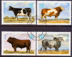 ZAMBIA 1987 SG #528-31 Compl.set Used Food And Agriculture Organization - Zambia (1965-...)
