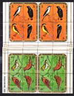 1970  Burundi, Oiseaux D'Afrique, 2X  Pa 154 / 177en Bloc De 4 - Burundi