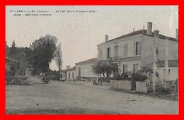 CPA (33) SAINT-JEAN-D'ILLAC.  Le Las, Route De Bordeaux-Arès, Animé, Voiture Ancienne...F896 - Autres Communes