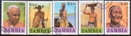 ZAMBIA 1987 SG #532-36 Compl.set Used People Of Zambia - Zambia (1965-...)