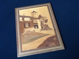 Tableau Panneau De Marqueterie En Bois De Placage - Other Collections