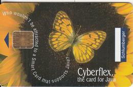 FRANCE - Butterfly, Cyberflex Open 16K, Schlumberger Demo Card - France