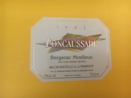 8325 - Foncaussade  1993 Bergerac Moelleux - Bergerac