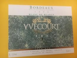 8326 - Blanc De Blancs 1993 Yvecourt - Bordeaux