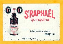 St RAPHAELE QUINQUINA  AVEC AU DOS LE CALENDRIER DE 1930 - Visiting Cards