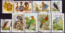 ZAMBIA 1989 SG #579//94 Part Set Used 9 Stamps Of 17 Surcharges - Zambia (1965-...)