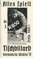 Original-Werbung/ Anzeige 1935 - KARAMBOLA TISCH-BILLARD - WETZLAR - Ca. 25 X 45 Mm - Werbung