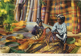 NIGERIA,afrique,mat Weaving Industrie,femme Et Enfant Au Travail,usine De Fabrication Tissus,tapis,rare,métier - Nigeria