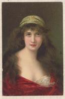 8AK1048 RAPHAEL TUCK SERIE 850 UN MOT A LA POSTE Portrait De Jeune Femme  2 SCANS - Tuck, Raphael